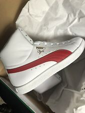 New In Box Puma Clyde Mid Core Foil Barbados Cherry And White Size 10