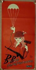 BABETTE GOES TO WAR ~ ORIG 1961 THEATRICAL FOLDED FRENCH MOVIE POSTER / BARDOT