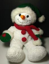 "Vintage Rare Commonwealth plush stuffed Christmas holiday Snowman 19"" large toy!"