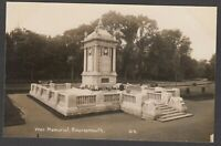 Postcard Bournemouth Dorset early view of the War Memorial RP