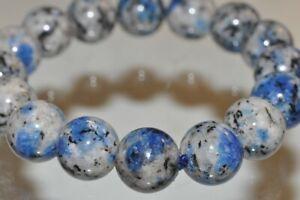 "7.5"" ""Rare & Exotic""~Pakistan AZURITE BLUE K2 JASPER in Granite Bracelet R1239"