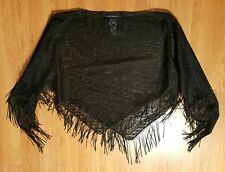 RAMPAGE BLACK SHORT  CARDIGAN, SZ One Size Fits All MADE IN USA!