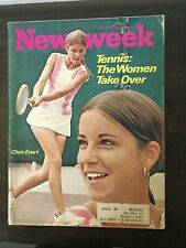 Chris Evert - Women's Tennis - 1972 NEWSWEEK Magazine - Complete Issue
