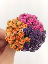 75 Mix Rose Scrapbook Craft Mulberry Paper Flower Bouquet Wedding Dollhouse