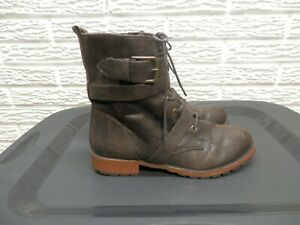 Madeline Girl Dark Brown Roosevelt Combat Boots Size 7.5