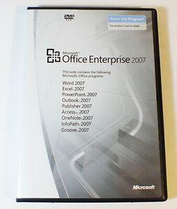 Microsoft Office Enterprise 2007 Program Word Excel PowerPoint Publisher w/ Key