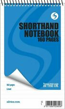 "3 x 160 Page Reporters Pad Notepad Note Pad  Notebook Shorthand Books 8"" x 5"""