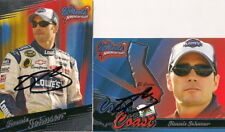 (2) Jimmie Johnson WHEELS AMERICAN THUNDER LOWES #48 signed card *FREE SHIPPING*