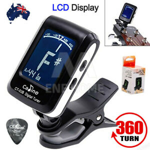 New Chromatic Guitar Tuner Violin Ukulele Bass LCD Electronic Digital Clip on AU