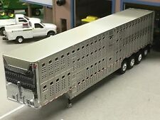 1/64 DCP WILSON QUAD AXLE CATTLE TRAILER