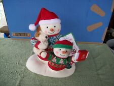 2020 Hallmark Ornament Cozy Christmas Selfie Musical Snowman Plush