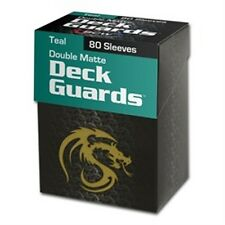 80 BCW Matte Teal MTG Deck Guards Protector Gaming Card Sleeves - BOXED!