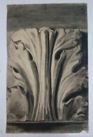 Dibujo de retablo, motivo arquitectónico del autor Alberto Duce Vaquero.Pintado
