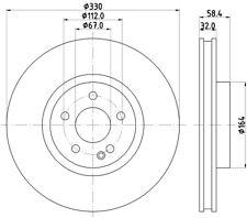 FIT MERCEDES-BENZ V-CLASS 2.1 VITO 2.1 1.6 NTEX FRONT DISC BRAKES PAIR MDC2728