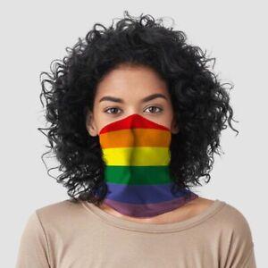 Rainbow Pride Flag - Reusable Cycling Face Covering Mask Ski Biker Bandana