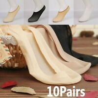 10 Pairs Women Invisible Footsies Shoe Liner Trainer Ballerina Boat Socks Soft