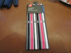 NWT Womens White, Pink & Black Under Armour Headbands