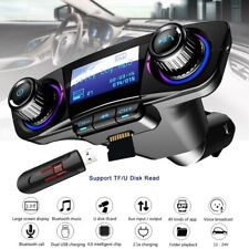 Car MP3 Bluetooth Handsfree 2.1A Fast Charger Support TF USB Audio Input and Out