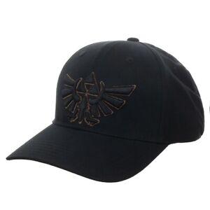 Nintendo Legend of Zelda Triforce Flex Fitted Cap Hat Official Bioworld Licensed