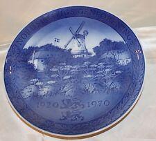 Royal Copenhagen Denmark 50th Anniversary Plate Blue and White Windmill NewIb