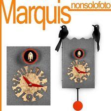 """orologio a cucù art.156 """"Duetto"""" nero argentato dis.Pirondini  Time Marquis"""