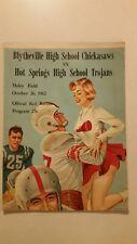 1962 Football Program,Blytheville,Hot Springs,Arkansas,Advertisements