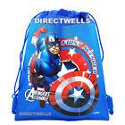 Captain America Authentic Licensed Drawstring String Bag School Sport Backpack
