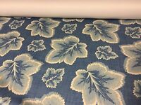 LUXURIOUS PALE BLUE FLORAL DIM OUT CURTAIN/THEATRE BY PANAZ FABRIC 13 METRES