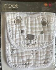 New Neat Solutions bib and burp cloth 100% cotton