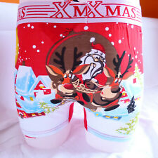 Funny Xmas Christmas Gift 4 Him Santa Cotton Mens Boxer Shorts Trunks M L XL 2XL