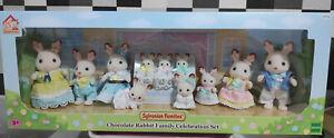 Sylvanian Families 35th LIMITED Chocolate Rabbit Family Celebration Set (NEW)