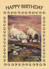 SEALYHAM TERRIER DOG BY POND BIRTHDAY GREETINGS NOTE CARD