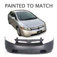 Painted to Match - Fits 2006 2007 2008 Honda Civic Sedan / Hybrid Front Bumper