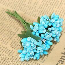 1 Bouquet(12pcs) Flower Stamen Artificial Floral Bridal Home Wedding Party Decor