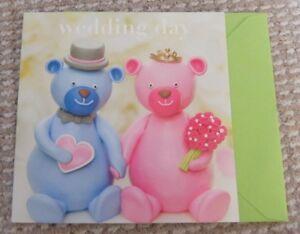Wedding Day Bears Greetings Card