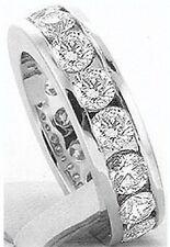4.01 ct ROUND DIAMOND Channel set Eternity Ring Platinum Band 16 x .25 ct Size 5