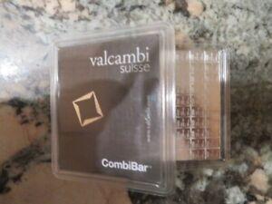100 Gram Valcambi Silver CombiBar (100x1g w/ Assay)
