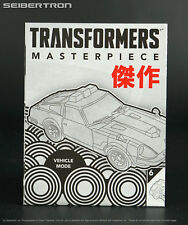 MP-04 Prowl INSTRUCTIONS ONLY Transformers Masterpiece Hasbro