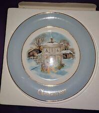 Avon Christmas 1977 Carolers in the Snow Decorative Plate Village Winter Scene