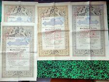 Autriche - Vienne - Déco Lot de 4 Emprunts de 1 000 Florins Dette Publique 1868