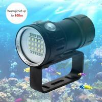 Lampe de plongée étanche professionnelle LED sous l'eau 100m photographie