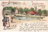 uralte AK Sächsisch-Thüringische Industrie&Gewerbe-Ausstellung Leipzig 1897 //52