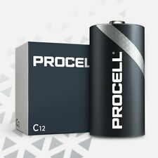 CASE 12 NEW DURACELL PROCELL SIZE C Alkaline Batteries Exp 2023 or Later