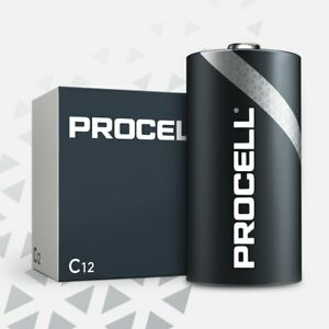 CASE 12 NEW DURACELL PROCELL SIZE C Alkaline Batteries Exp 2024 or Later