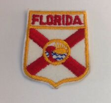 "Vintage Embroidered Florida Uniform Iron On Patch (2""X 2 1/2"")"