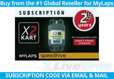 MyLaps X2 Subscription 2-year Renewal Card for Kart Direct Power Transponder