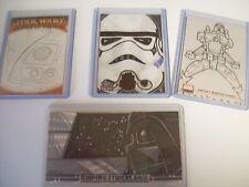 2005-2011 Topps Star Wars X4 Sketch Darth Vader Stormtrooper R2D2 Boba Fett LOOK