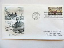 """December 15th, 1962 Honoring """"Winslow Homer"""" First Day Cover"""