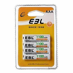 EBL Lot de 4 Piles Rechargeables AAA 1.2V 1100mAh Ni-MH R03/ AAA Batteries av...