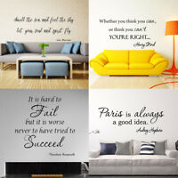 Proverb adage Wall Decals Word Vinyl Removable Sticker Verse Quote Art Decor